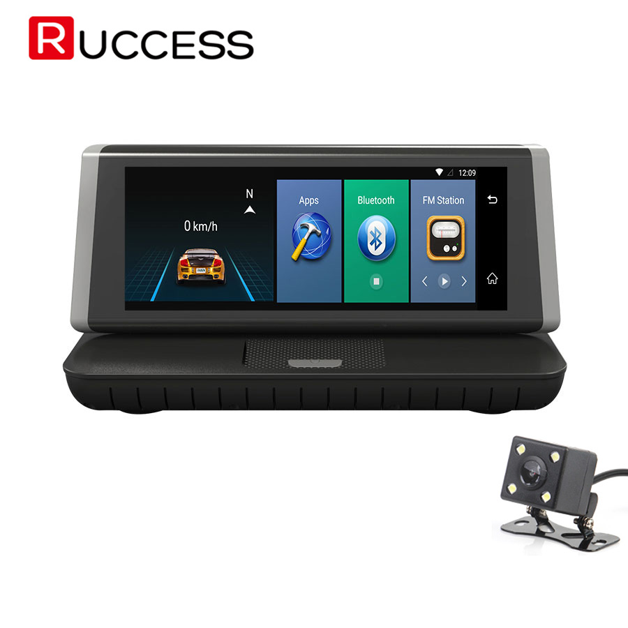 Ruccess 4G Car DVR Camera GPS Navigation Wifi Dual Lens Full HD Dashcam Android 5.1 Full HD 1920x1080 ADAS Video Recorder