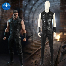 Movie Avengers Infinity War Cosplay Thor Odinson Costume Men Halloween For Custom Made
