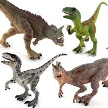 Velociraptor Dilophosaurus Carnotaurus Dinosaurs Classic PVC Toys For Children Animal Model Action 4styles action figure jurassic velociraptor dilophosaurus carnotaurus 17cm dolls animal collectible model furnishings toy gifef3