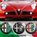1 pcs Frete grátis Promoções venda Preto branco Cor 74mm 7.4 cm ALFA ROMEO Logotipo Do Carro emblema emblema autocolante para Mito 147 156 159 166
