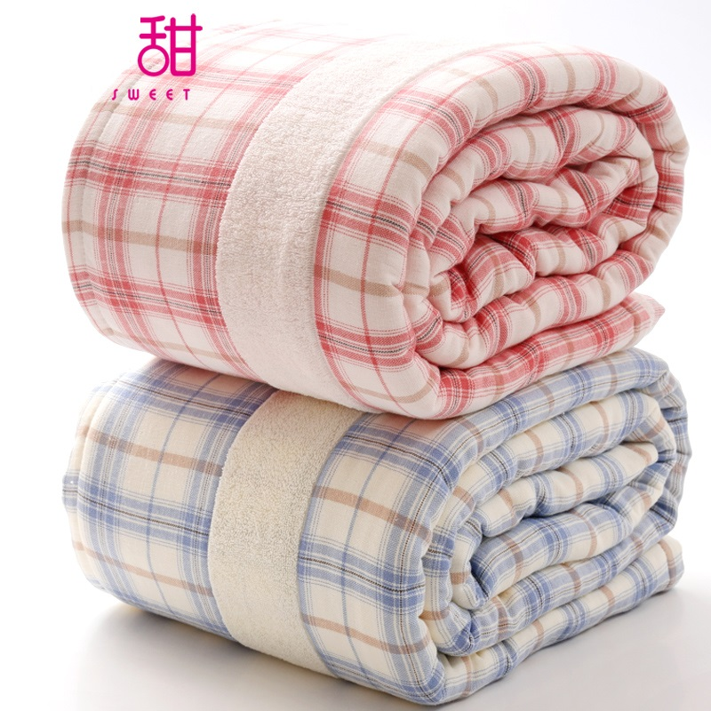 100 cotton gauze towel blanket quilt quilt sofa air bedding throw solid color travel - Spots of color in the bedroom linens and throws ...