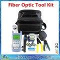 Kit de fibra Óptica FTTH Ferramenta com FC-6S FIBER Cleaver e Power Meter Óptico 5 km Localizador Visual de Falhas De Fibra de Stripper