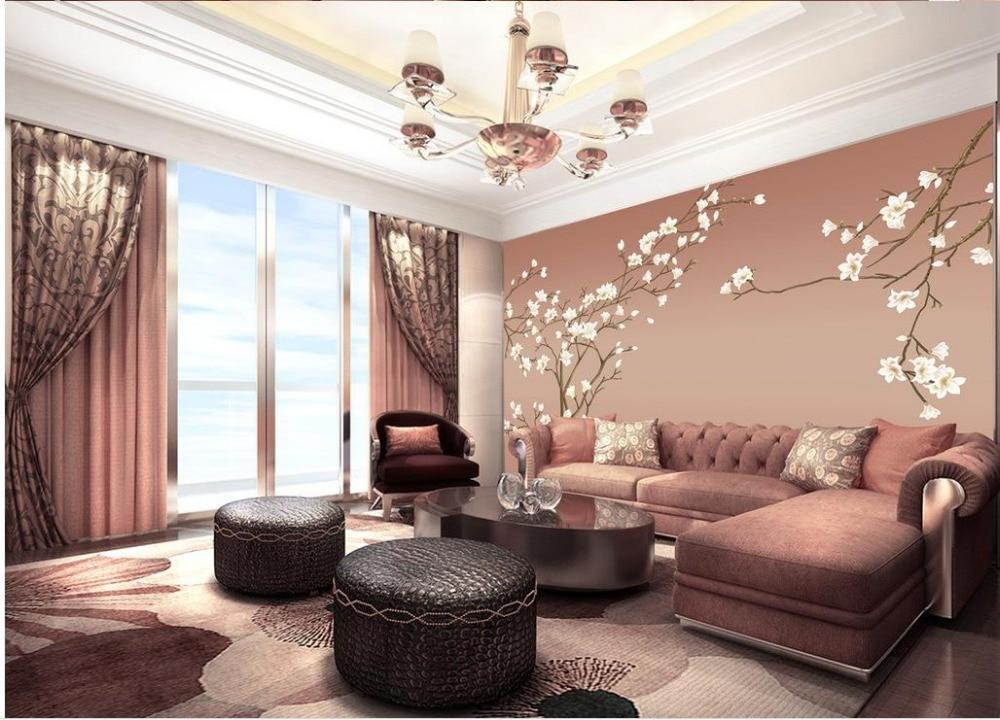 Cl ssico papel de parede papel de parede para paredes sala de estar estilo m o pintado aves flor - Papel para revestir paredes ...