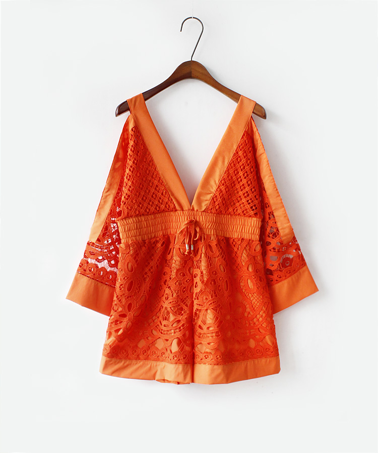 f43b4d844dc Sexy Women s Jumpsuits Rompers Kimono Sleeve V Neck Cutout Floral Lace Alice  McCall Keep Me There Playsuit Combishort-in Rompers from Women s Clothing  on ...