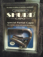 New Shubb C8 Nickel Finish Partial Guitar Capo Capotraste, Cover 5 String, emulating a drop D tuning