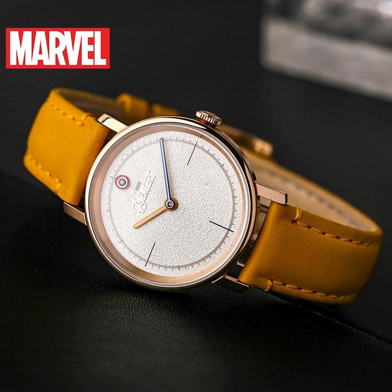 Marvel Avengers femmes bracelet en cuir étanche montres à Quartz dames Captain America Hero montre à la mode Top Femme Disney horloge nouveau - 5