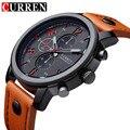 Нью-curren мужские спортивные кварцевые часы мужские часы лучший бренд роскошные кожаные наручные часы Relogio Masculino мужчины валютам часы 2016