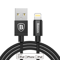 Baseus Original MFI Certified Metal USB Cable For Lightning to Usb Data Cable For iPhone 5 6 7 7+ iPad Fast Quick Charger Cable