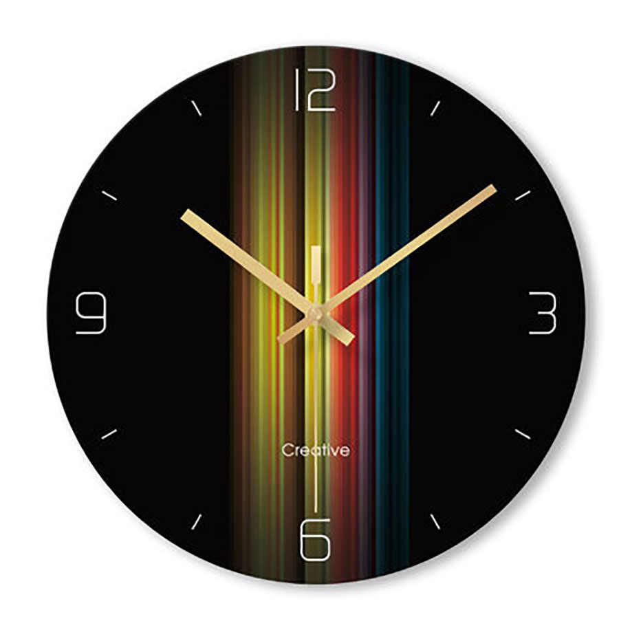Reloj De Pared Reloj De Casa De sala De estar Reloj De cuarzo creativo silencioso Reloj De Arte De cristal negro dormitorio Reloj De Pared para mujer WZH277