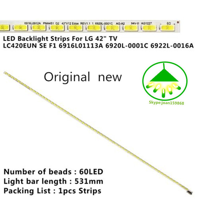 100% новый для Konka LED42X8000PD световой бар 6920L-0001C 6922L-0016A с ЖК LC420EUN 60 ламповых бусин 531 мм