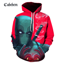New fall 3D deadpool movie compared to heart's mean print hoodie sweatshirt 3D hd printed digital pullover men casual hoodie trees sunset 3d print pullover hoodie