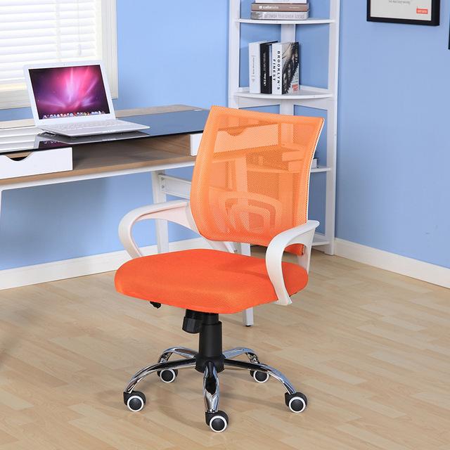 Cadeira Computador Pessoal portátil Simples Cadeira de Escritório Malha Pano Respirável Reunião Confortável Levantamento Cadeira Giratória de Lazer