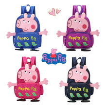 Peppa Pig Toys Boys and Girls Cute Kindergarten Backpack Canvas Cartoon Childrens Schoolbag Toy Gift
