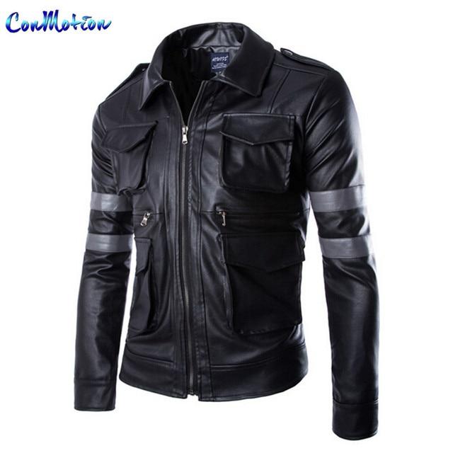 Aliexpress.com : Buy Classic Men's PU Leather Jacket Resident Evil ...