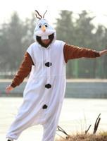 Anime Olaf Snowman Costume Pajamas Cosplay White Jumpsuit Adult Onesie Pyjamas Party Dress CO44175180