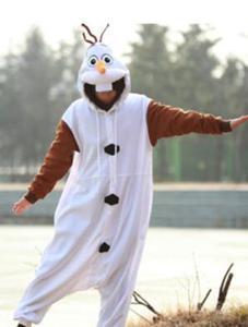 Image 1 - Anime Olaf snowman Costume Pajamas Cosplay White jumpsuit Adult Onesie Pyjamas Party Dress NL1601