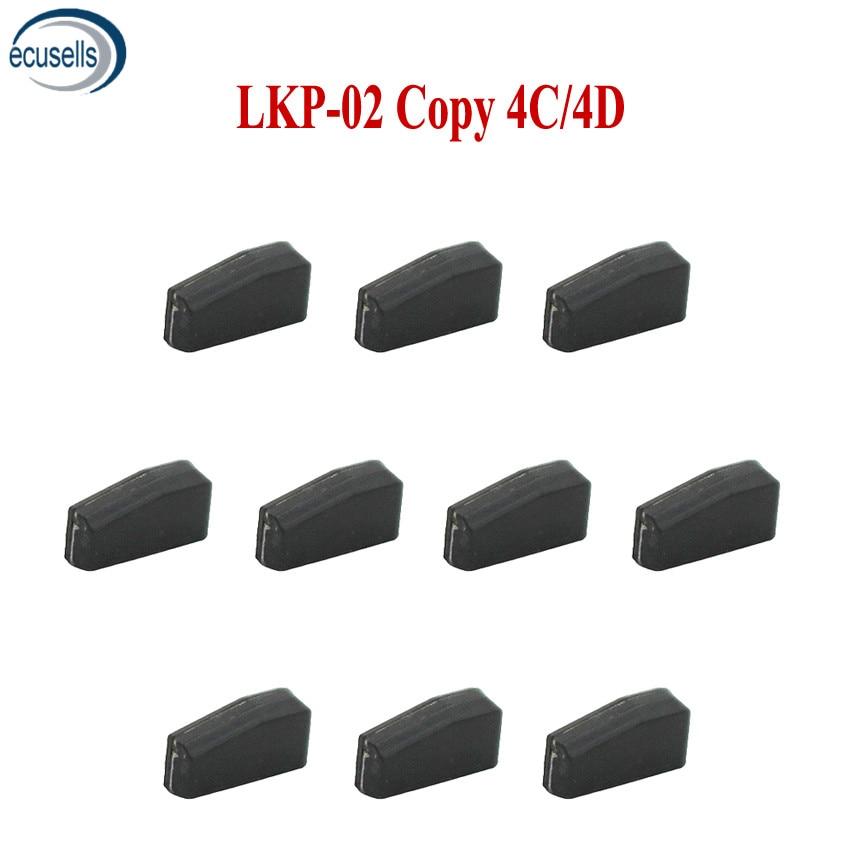 10PCS LOT New LKP 02 Car Key Blank Chip for 4C Programmer Can Program Copy 4C