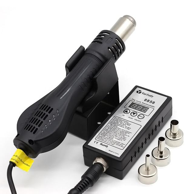 Soldering Station 8858 Portable Digital Hot Air Gun BGA Rework Solder Station Hot Air Blower Heat Gun Desoldering Than 858D 858