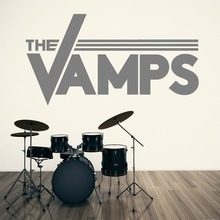 цена THE VAMPS LOGO vinyl wall art sticker decal DIY Removable Home Wall Decoration Mural Vamps Symbol Wall Sticker M-169