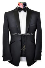 Fashion High Quality Black Men Business Suits With Pants 3 Pieces Groom Formal Party Mens Suits Wedding Groom Tuxedos For Men