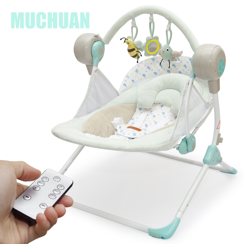 Electric Bluetooth  Baby Swing Cradle Baby Chaise Lounge Folding Plus Size Electric Rocking Chair Automatic Cradle Bed 8gb Card