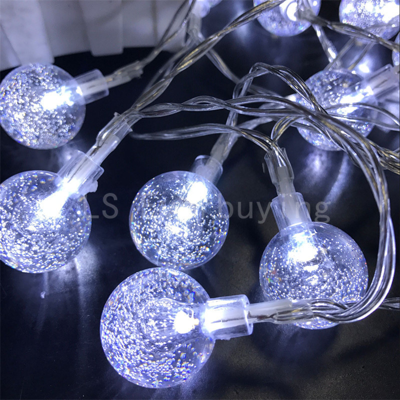 Multi color LED string christmas lights fairy lamp 10M 80leds  lighting fairy light party holiday light 3 * AA battery powered