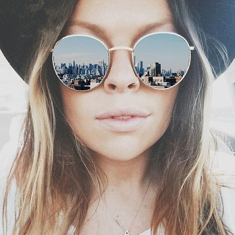 aviator sunglasses mirror sb1e  Vintage Brand Design Round Women Sunglasses Brand Designer 2016 Retro Mirror  Sun Glasses For Female Lady Aviator Sunglass Women
