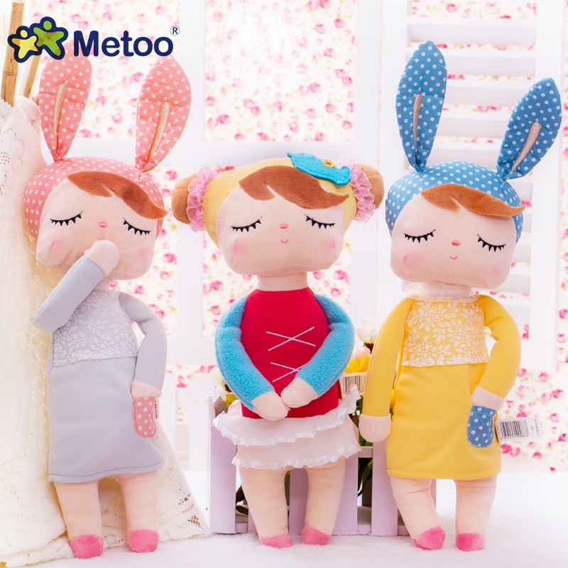 2017 Metoo Doll 34cm Plush Cute Stuffed Brinquedos Baby Kids Toys for Girls Birthday Christmas Gift 13 Inch Angela Rabbit Girl 9 inch plush stuffed brinquedos lovely cartoon baby kids toys for girls birthday christmas gift animals cute dog metoo doll