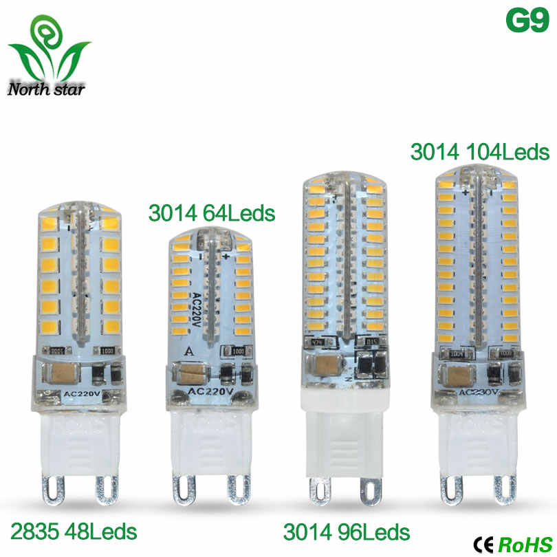 Mini G9 9W 12W LED lamp 3014 2835 SMD AC220V DC12V Sillcone body LED Corn Bulb 64LEDs 104LEDs Crystal Chandelier COB Spot light