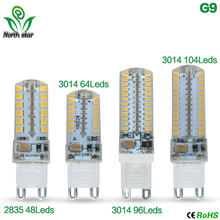 Mini G9 9 W 12 W LED lamp 3014 2835 SMD AC220V DC12V Sillcone body LED Lamp Maïs 64 LEDs 104 LEDs Crystal Kroonluchter COB Spot licht(China)