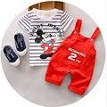 Estilo del verano Ropa Infantil Ropa de Bebé Establece niños chándales para chidlren Algodón de Manga Corta 2 unids Ropa Del Bebé recién nacido
