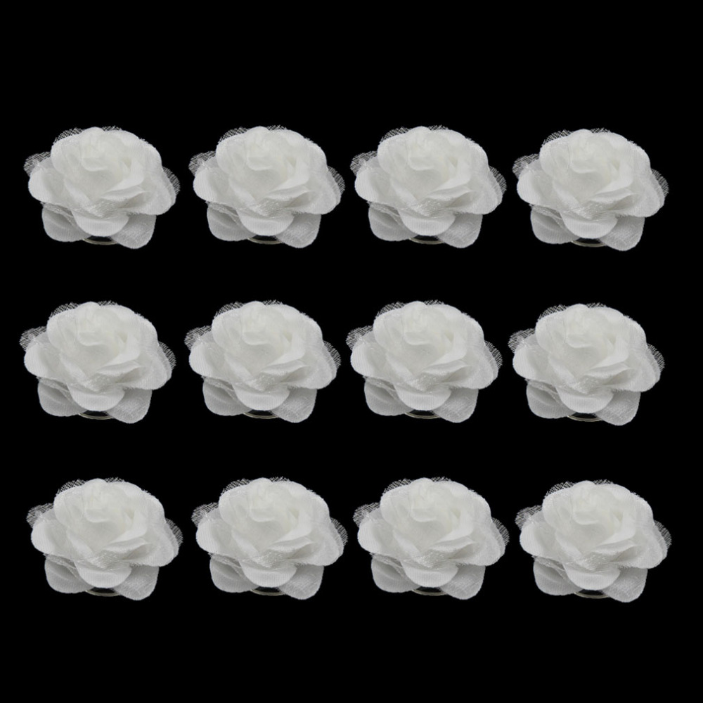 Furling Girl Pack Of 6 Pcs White Camellia Flower Spiral Wedding Twist Coils Hair Spin Bridal Pins Women Hair Jewelry Accessories