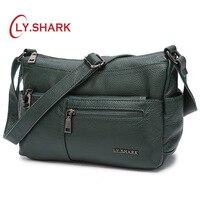 LY.SHARK Ladies' Genuine Leather Bag Luxury Bags Women Designer Crossbody Bags For Women Women's Over the shoulder Bags