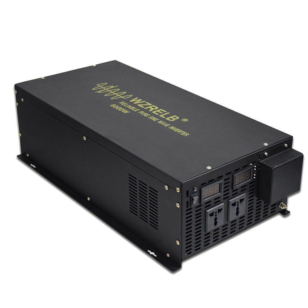 6000 W czysty sinus falownik falowy 24 V 220 V energii wiatrowej falownika 12 V/36 V/ v/48 V/72 V/96 V/110 V DC do 120 V/230 V/240 V AC pilot zdalnego sterowania