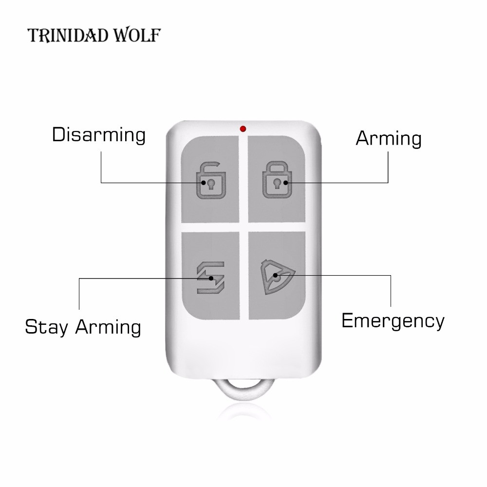 Wireless Remote Control Arm/Disarm Keychain Detector For Kerui Touch Keypad Panel GSM PSTN Home Security Burglar Alarm System