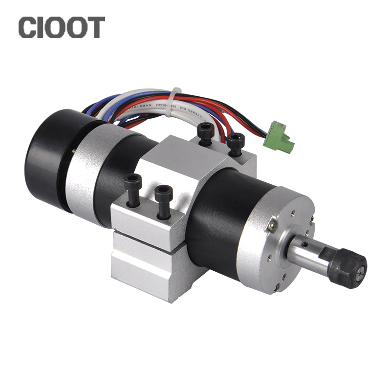 Brushless 600W CNC Router Spindle Motor ER11 DC Motor + 55MM CNC Clamp Bracket For CNC Milling Machine high quality cnc wantai nema17 brushless dc motor 42blf02 24v 52w 4000micro router milling laser plasma