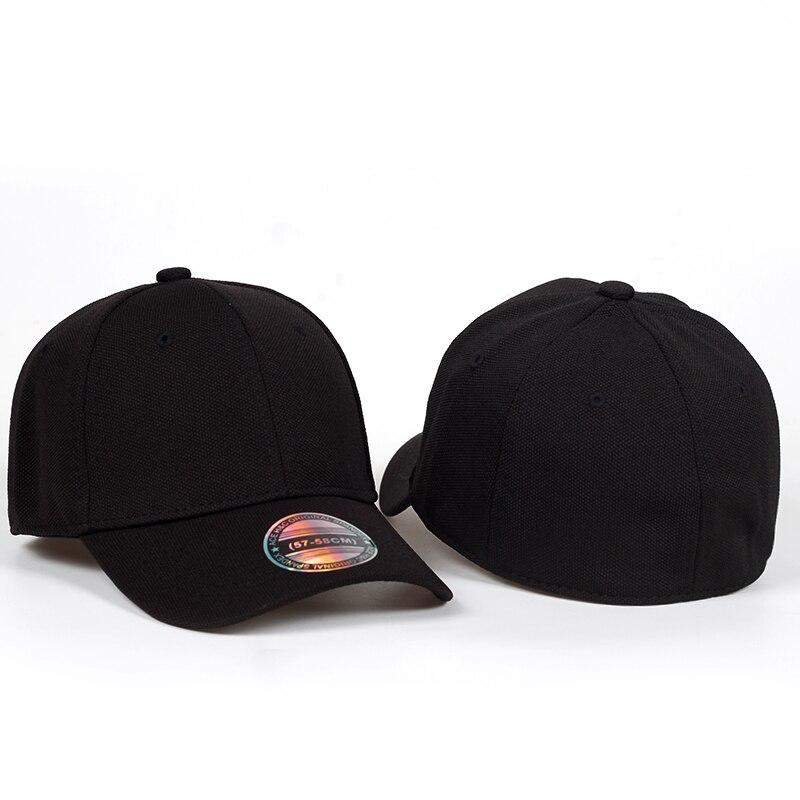 2018 new Black Baseball Cap Men Snapback Hats Caps Men Flexfit Fitted Closed Full Cap Women Gorras Bone Male Trucker Hat Casquet