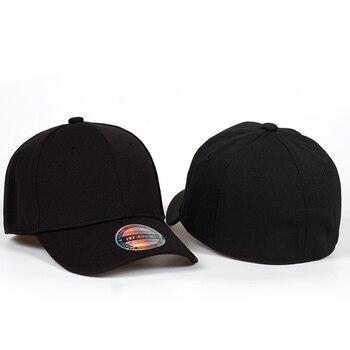 85673278feb47 2018 nueva gorra de béisbol negra para hombre Gorras Snapback Gorras para  hombres Flexfit ajustada gorra completa cerrada para mujer Gorras de hueso  para ...