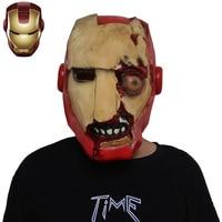 Halloween Avengers Infinity War Iron Man Zombie Mask Cosplay Props Scary Latex Mask