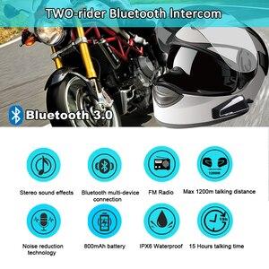 Image 2 - Bluetooth гарнитура Fodsports T9S мотоциклетная водонепроницаемая для шлема, 2 шт.