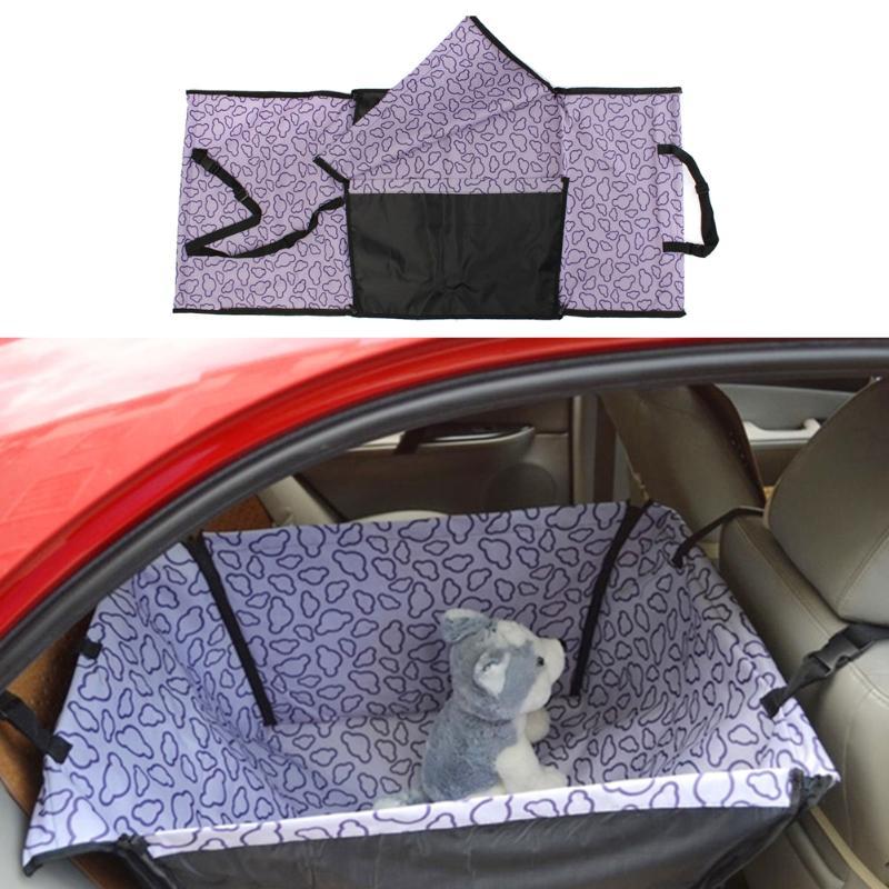 Waterproof Single Dog Seat Cover Pet Rear Carrier Mat Blanket Dog Car Seat Back Protector Safe Dog Accessories Hammock 6