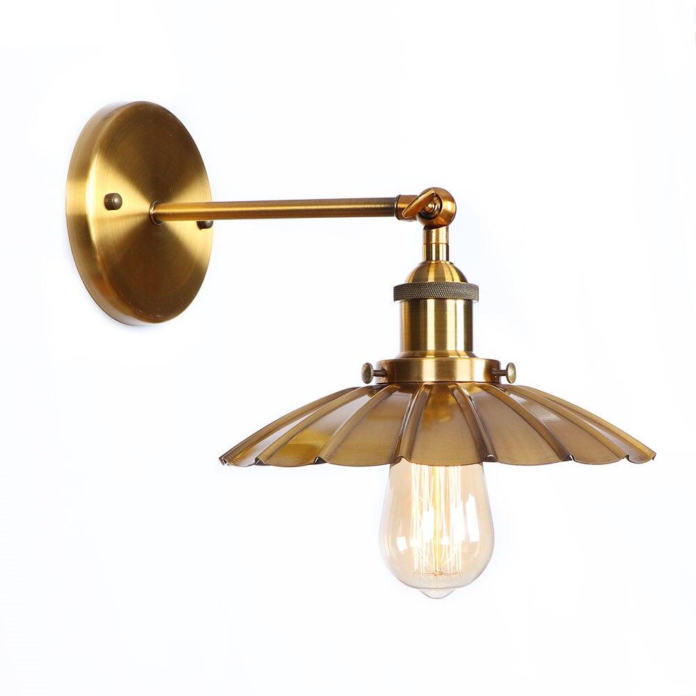 Iron Golden Antique Wall Lights LED Edison Bedroom Living Room Retro Loft RH Style Industrial Wall Lamp Vintage Wandlamp