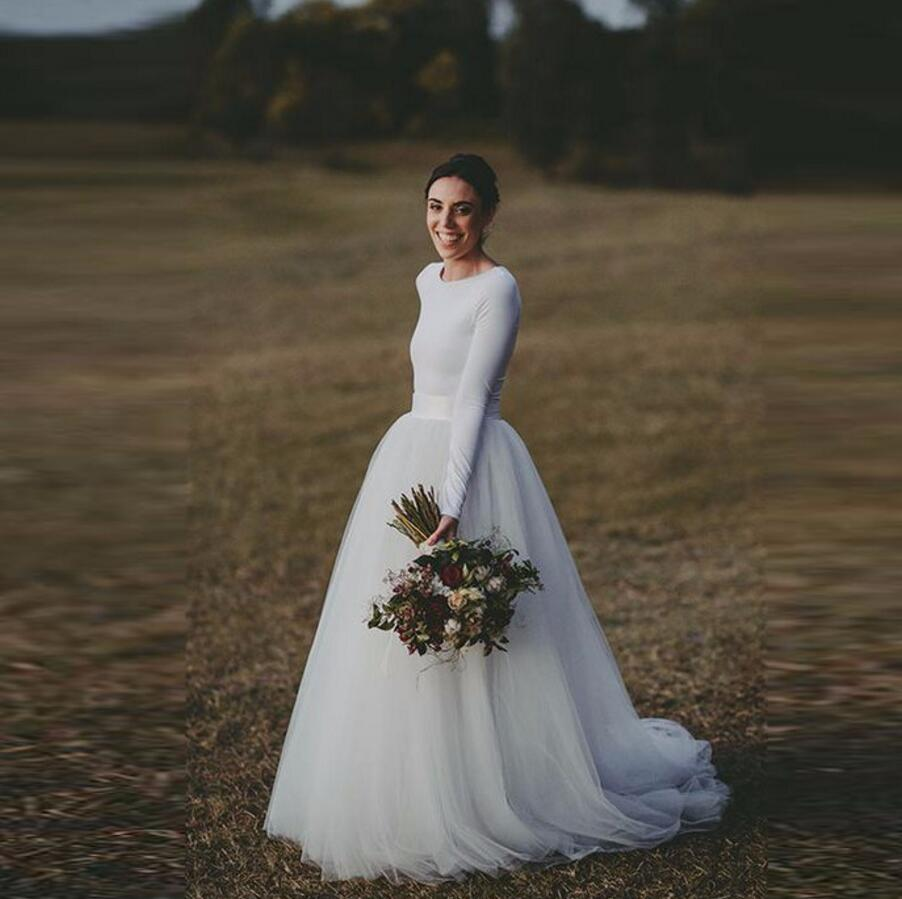 2db249571c Por encargo de novia Faldas mujeres amplia cintura una línea piso longitud  Maxi falda de tutú blanco