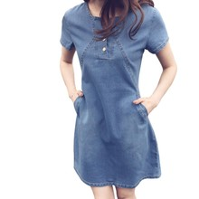 SILVERCELL femmes Sexy hanche Denim robe Slim moulante tunique paquet robes femmes mode Jeans robe(China)