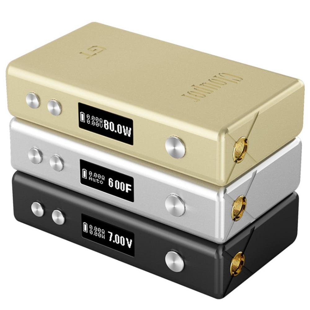 100% Original Cloupor GT 80 watt TC VV VW Variable leistung Vape Box Mod Angetrieben durch 2*18650 Batterie frühling Geladen 510 Pins Schwarz/Gold