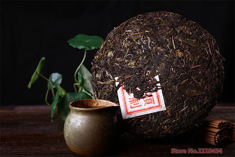 China Yunnan puerh tea 357g raw puer Chinese Menghai shen taetea 357g pu er green food health care pu erh cake pu er tea 357g