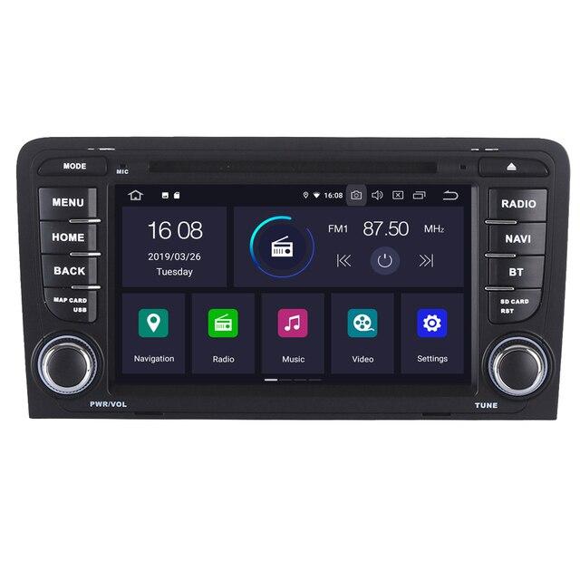 5578d5370 A3 S3 RS3 RoverOne Para Audi 2003 2013 Android 9.0 Autoradio Multimedia  Player Radio Stereo Navegação GPS Do Carro Cabeça unidade de DVD