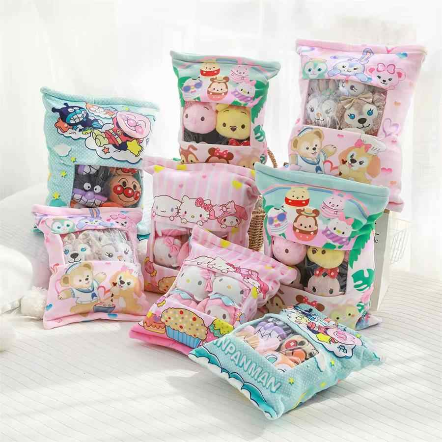 Сумка Anpanman ЦУМ медведь плюшевый 4 шт или 8 шт мультфильм набивные куклы, игрушки в подарок для детей любовь домашнее животное #915