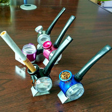 mini glass shisha hookah water pipe tobacco smoking pipes herb grinders weed chicha gadgets cohiba cigar accessories sniffer