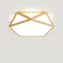 ФОТО geometry creative wooden led ceiling lighting ceiling lamp for the living room lamp for the hall ceiling lamp for designer's
